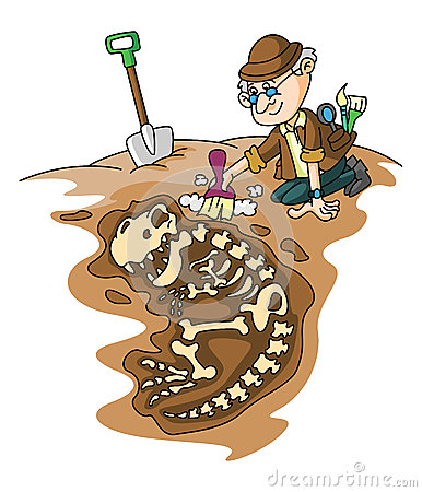 Archaeology Dig Stock Illustrations.