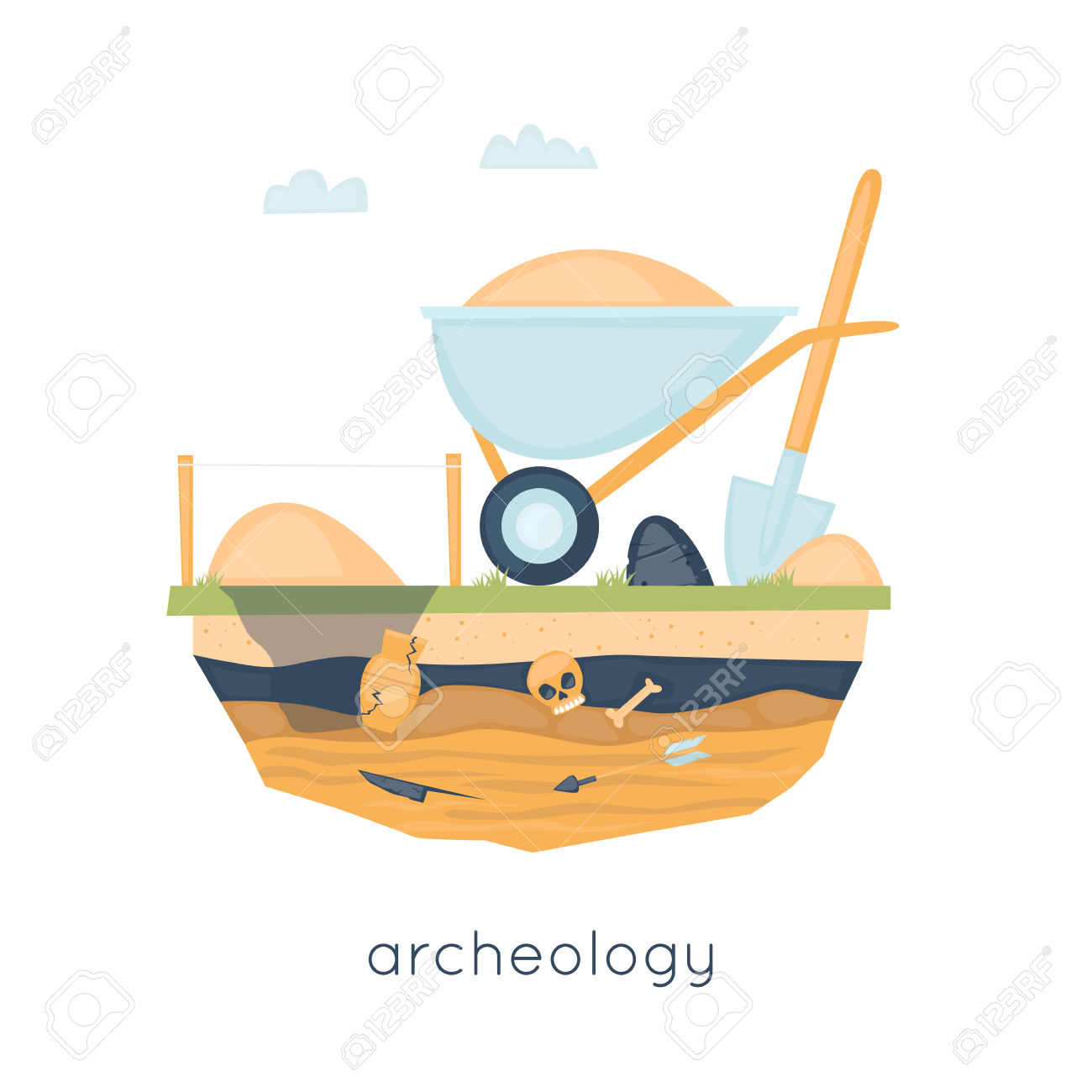 Archeology, Archaeological Excavations, Ancient Artifacts.