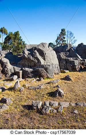 Stock Photos of Peru, Qenko, located at Archaeological Park of.