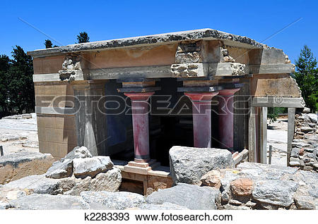 Stock Photo of Archaeological site of Knossos. Minoan Palace.