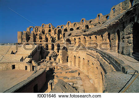 Stock Images of vestige, ruin, antiquity, Tunisia, Northern Africa.