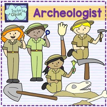 Archaeologist kids clipart {Social Studies clip art}.