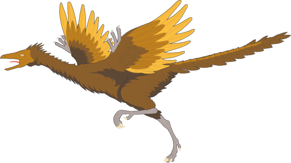 Running Archaeopteryx Clip Art at Clker.com.