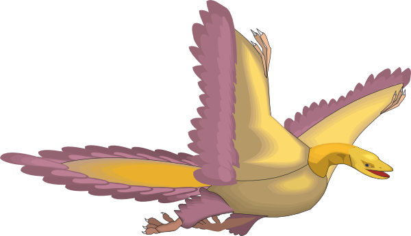 Flying Archaeopteryx Clip Art at Clker.com.