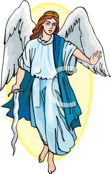 Royalty Free Clipart Image: Archangel With a Sword.
