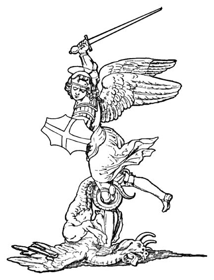 The archangel clipart clipground for Archangel michael coloring page