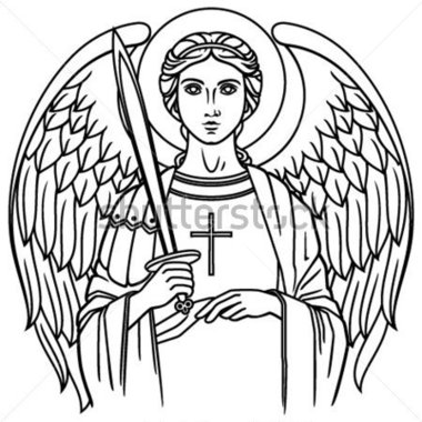 Archangel clipart clipground for Archangel michael coloring page