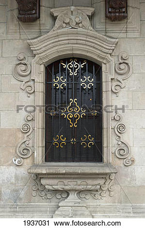 Stock Photography of Archbishop's Palace In Plaza Mayor In The.