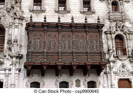 Stock Images of Balcony of the Archbishop's Palace.