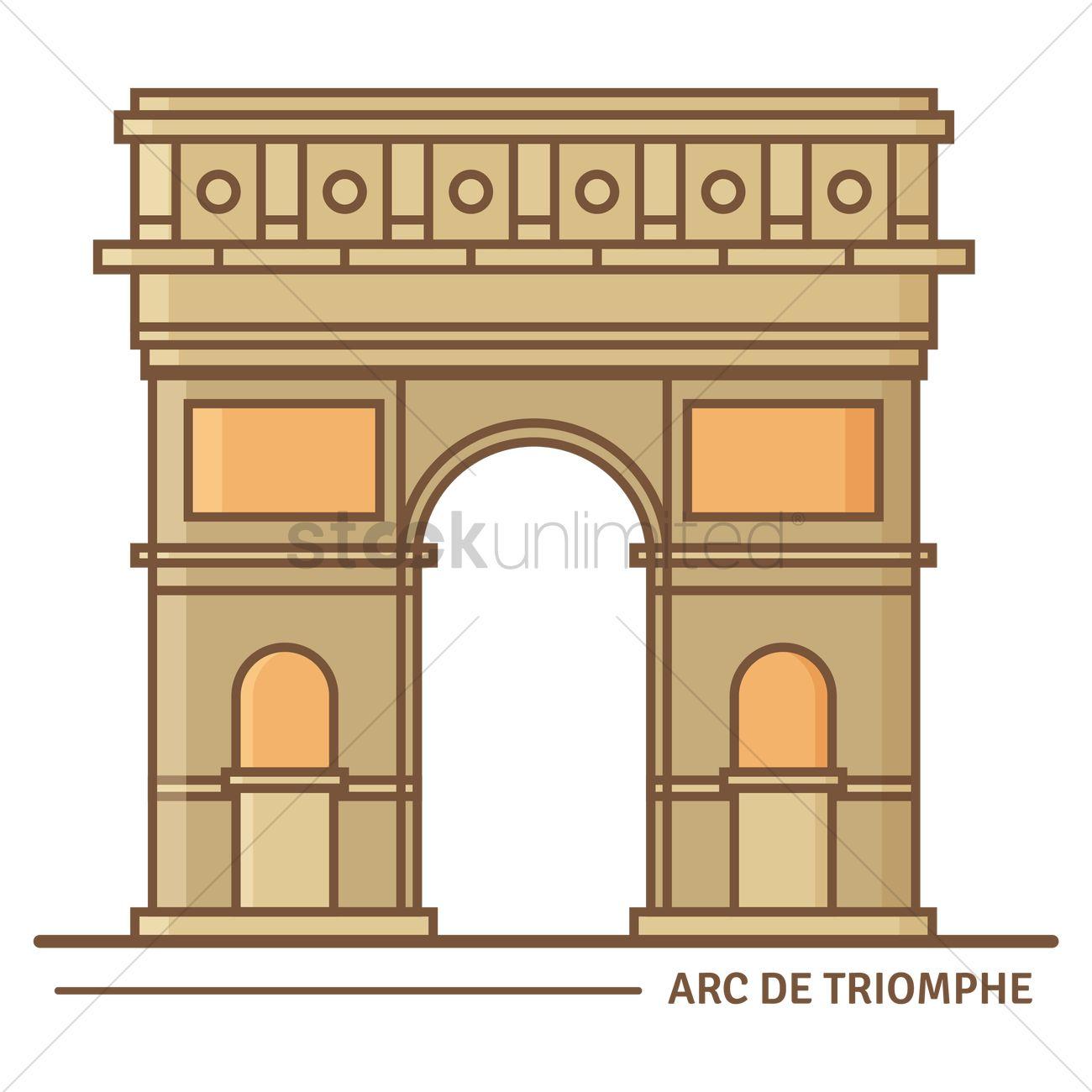 Arc de triomphe Vector Image.