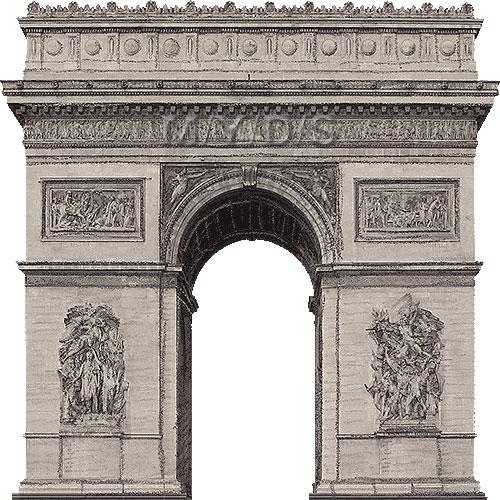 Arc de Triomphe clipart / Free clip art.