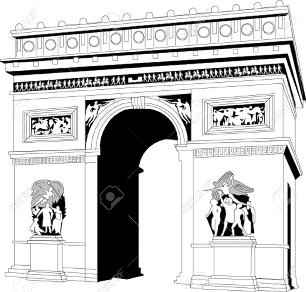 Arche de triomphe clipart - Clipground
