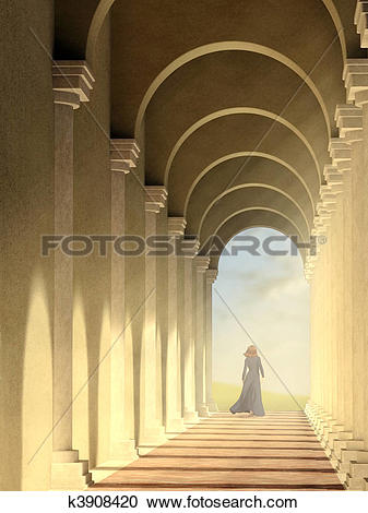 Stock Illustrations of Arched pathway k3908420.