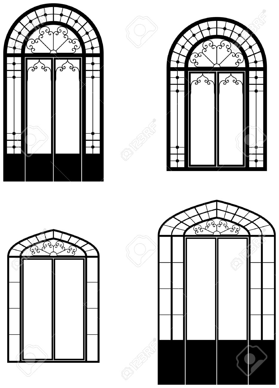 Arched door clipart clipground for Window design clipart