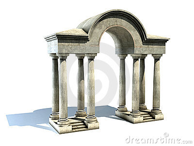 Entrance Arch Columns Stock Illustrations.