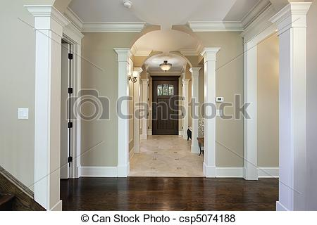 Pictures of Foyer with arched entry.