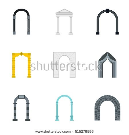 Arched Niches Stock Photos, Royalty.