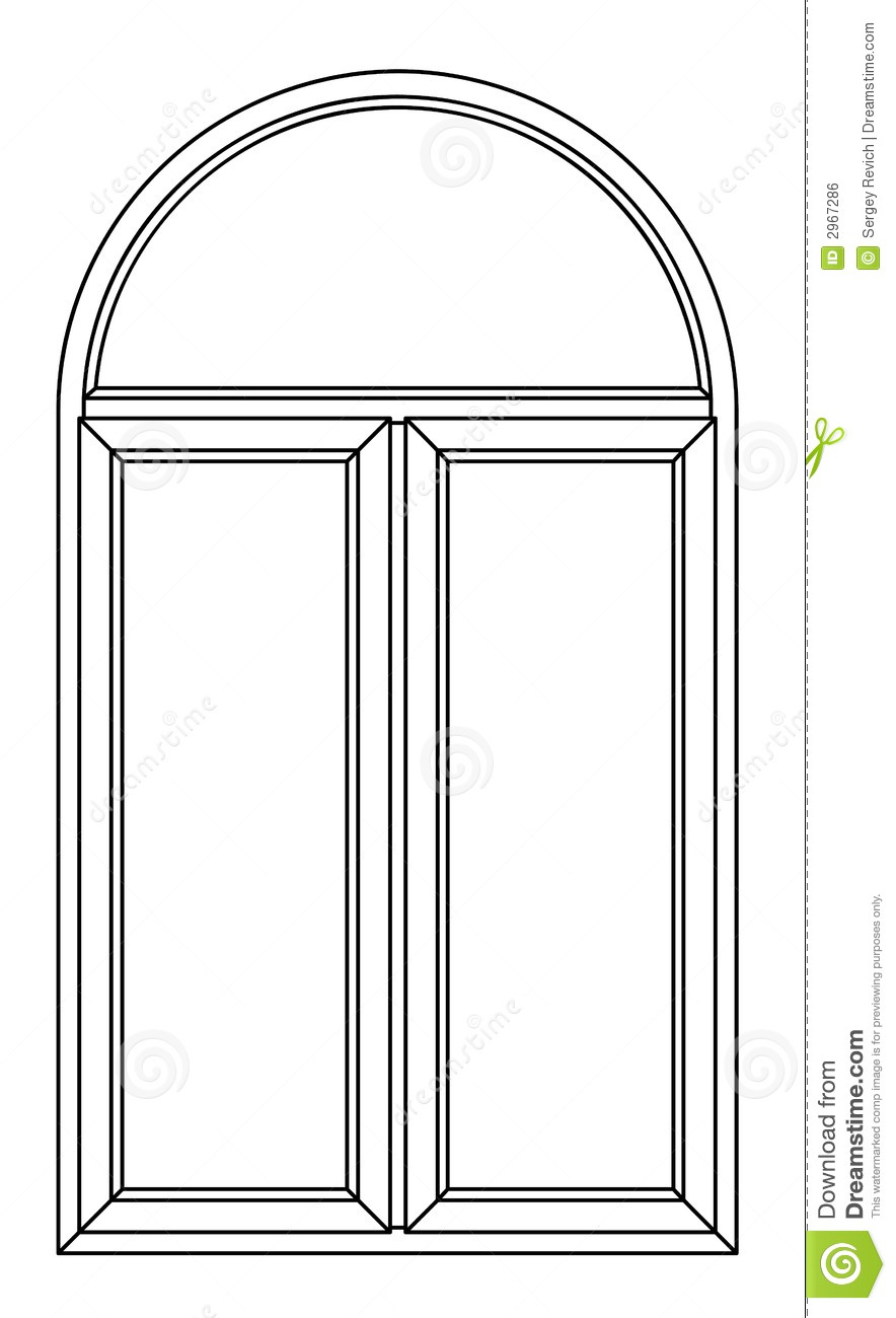 Contour Arch Window Royalty Free Stock Image.