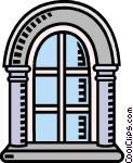 arched window Vector Clip art.