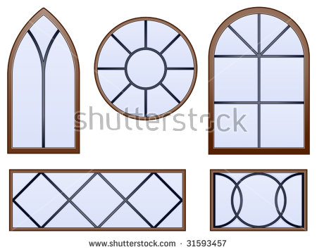 Church Window Stock Photos, Royalty.