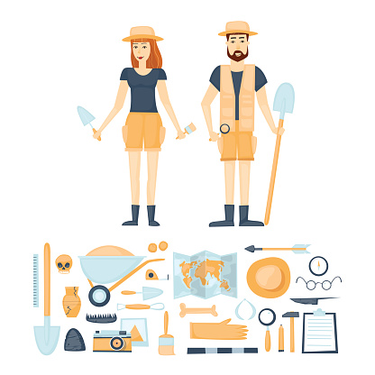 Archaeology Tools Clip Art, Vector Images & Illustrations.