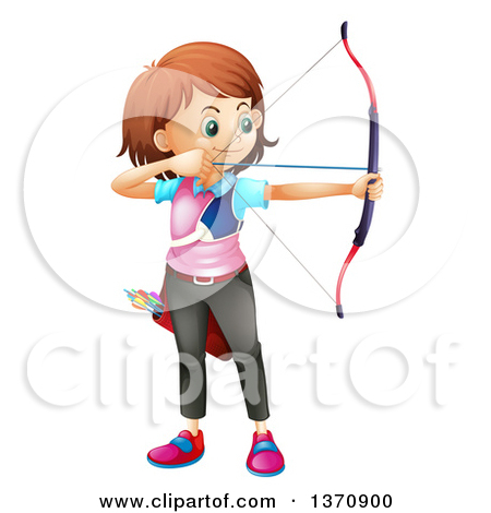 Girl archery clipart clipartfest collection 5.