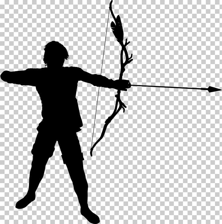 Archery Silhouette , archer PNG clipart.