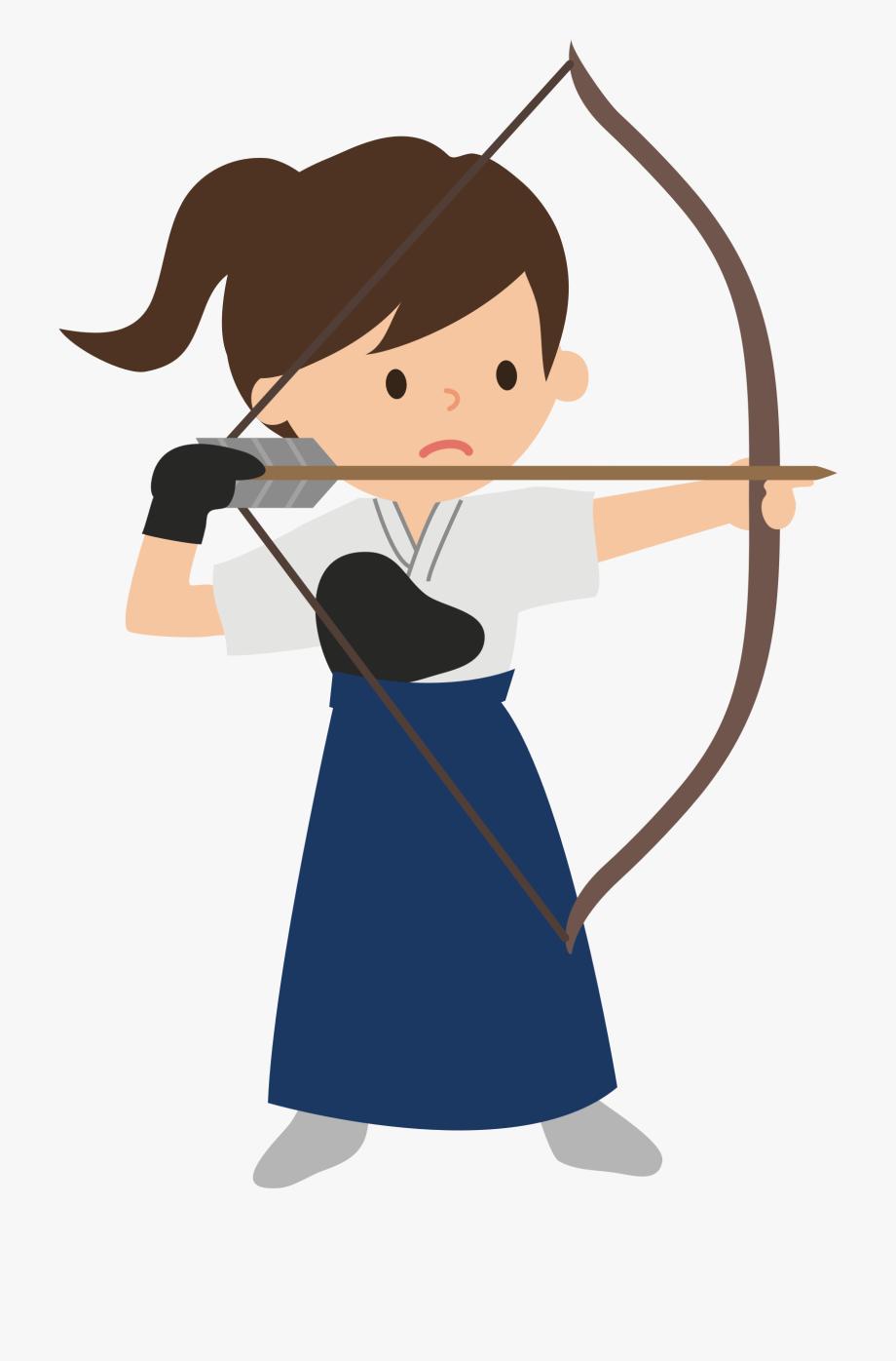 Archery Cliparts Girl.