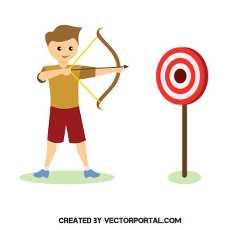 medieval archer clipart free vectors.