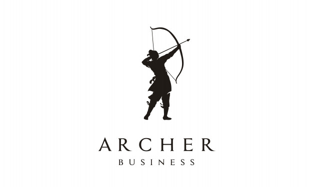 Elegant archer logo design Vector.