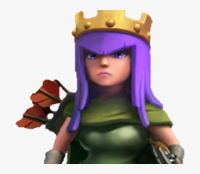 Coc Barbarian King And Archer Queen PNG Image.