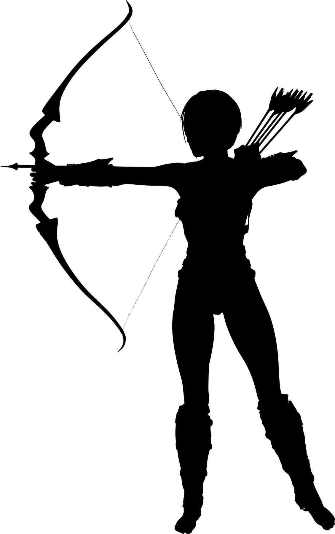 bow and arrow silhouette png.