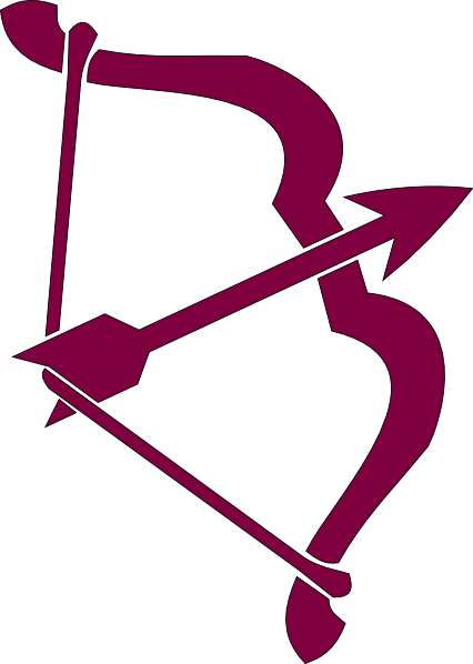 Purple Bow And Arrow Clip Art at Clker.com.