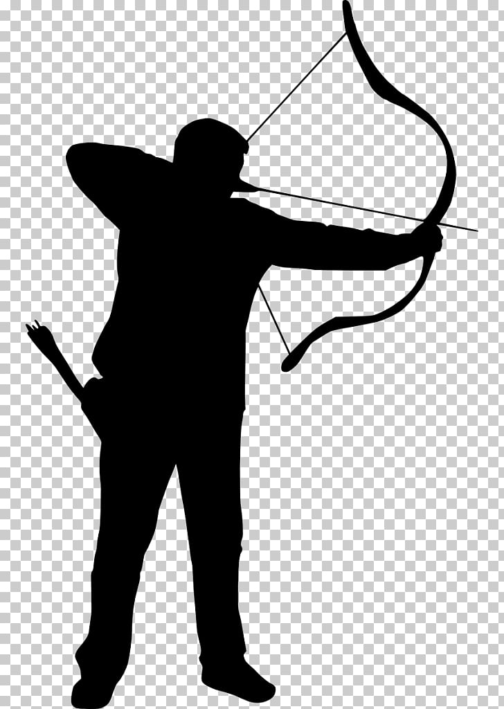 Silhouette , archer PNG clipart.