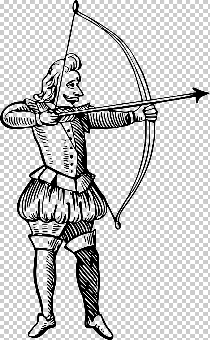 Bow and arrow Archery , archer PNG clipart.