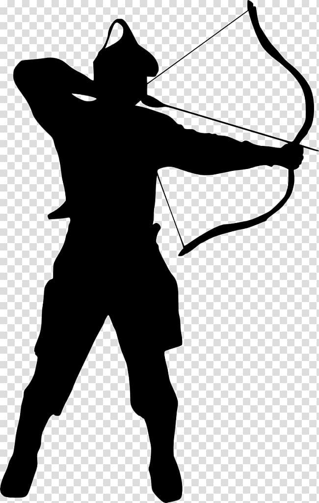 Silhouette , archer transparent background PNG clipart.