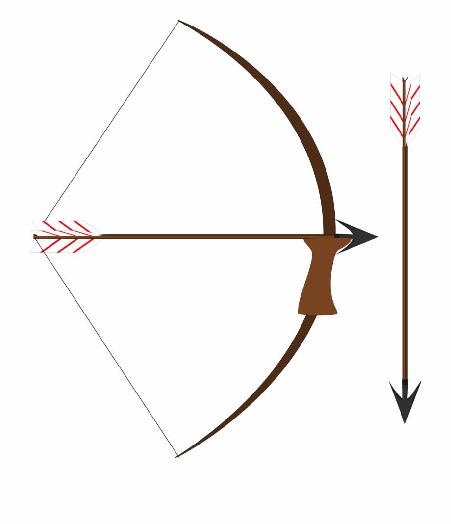 Bow And Arrow Vector Clip Art.
