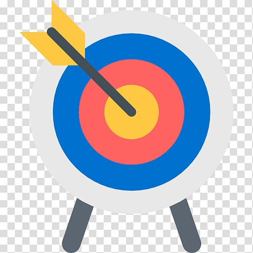 Gray arrow in center target board, Shooting target Archery.