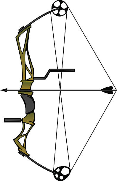 Compound Bow Illustrations, Royalty.