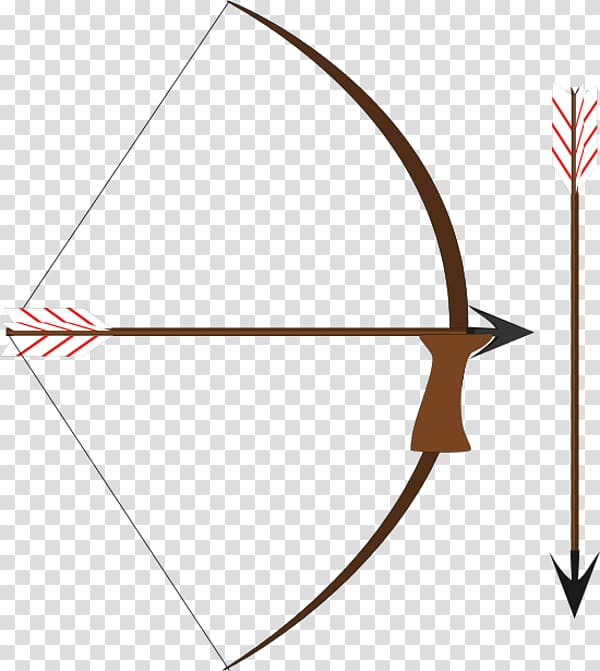 Bow and arrow Archery , Bow And Arrow transparent background PNG.