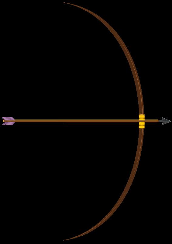 Clip Art Archery bow and arrow #44417.