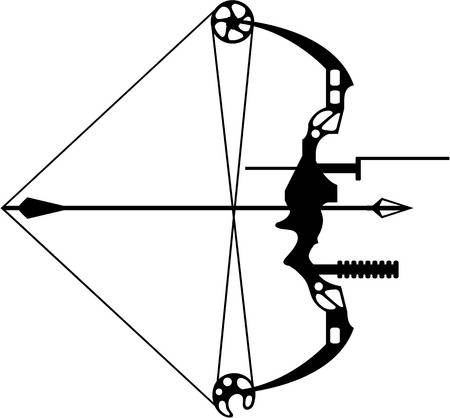 127 Compound Bow Stock Vector Illustration And Royalty Free Compound.
