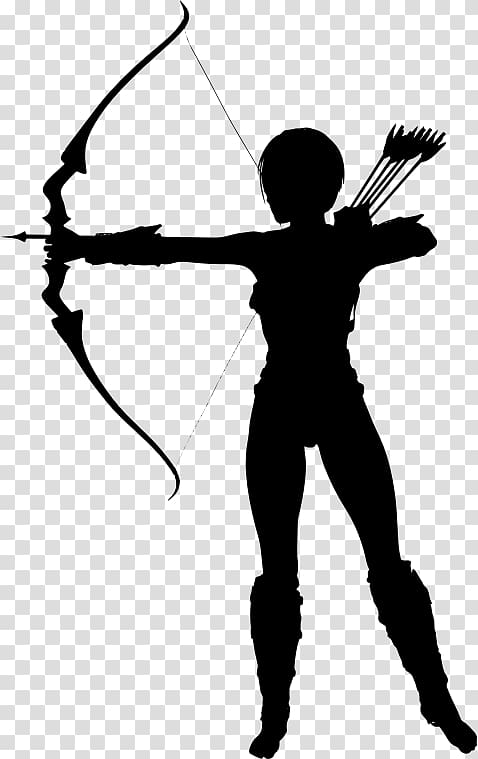 Silhouette Archery, Silhouette transparent background PNG.