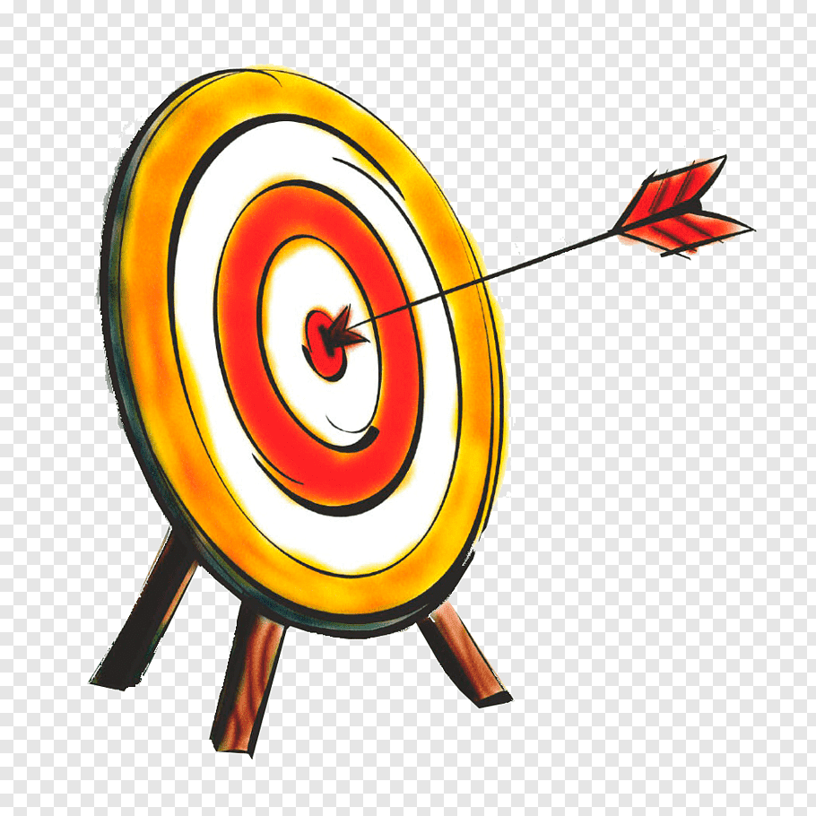 Arrow hit bull\'s eye art, Bullseye Shooting target Arrow.