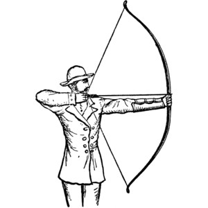 Archery Clipart Black And White.