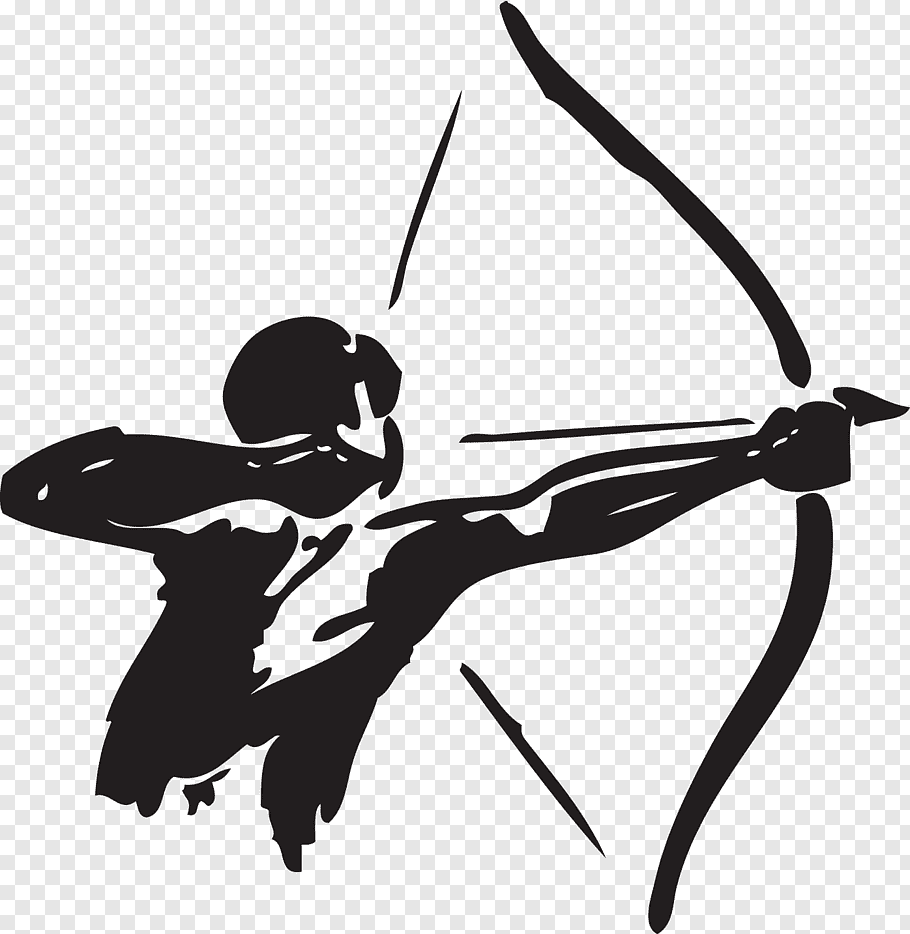 Person with bow art, Archery Bow and arrow Hunting, archer.