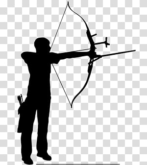 Middle Ages Archery Bow and arrow Drawing , archery.