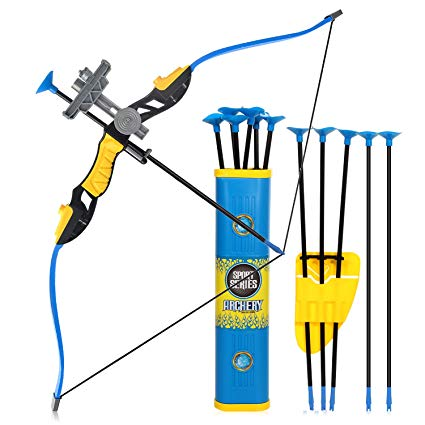 Goldboy Kids Bow and Arrows, Kids Archery Bow and Arrow Toy Set for Boys  Girls, Hunting Shooting Bows for Kids, Toy Archery Set Fun Sport Game with  12.