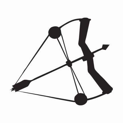 Clipart compound bow.