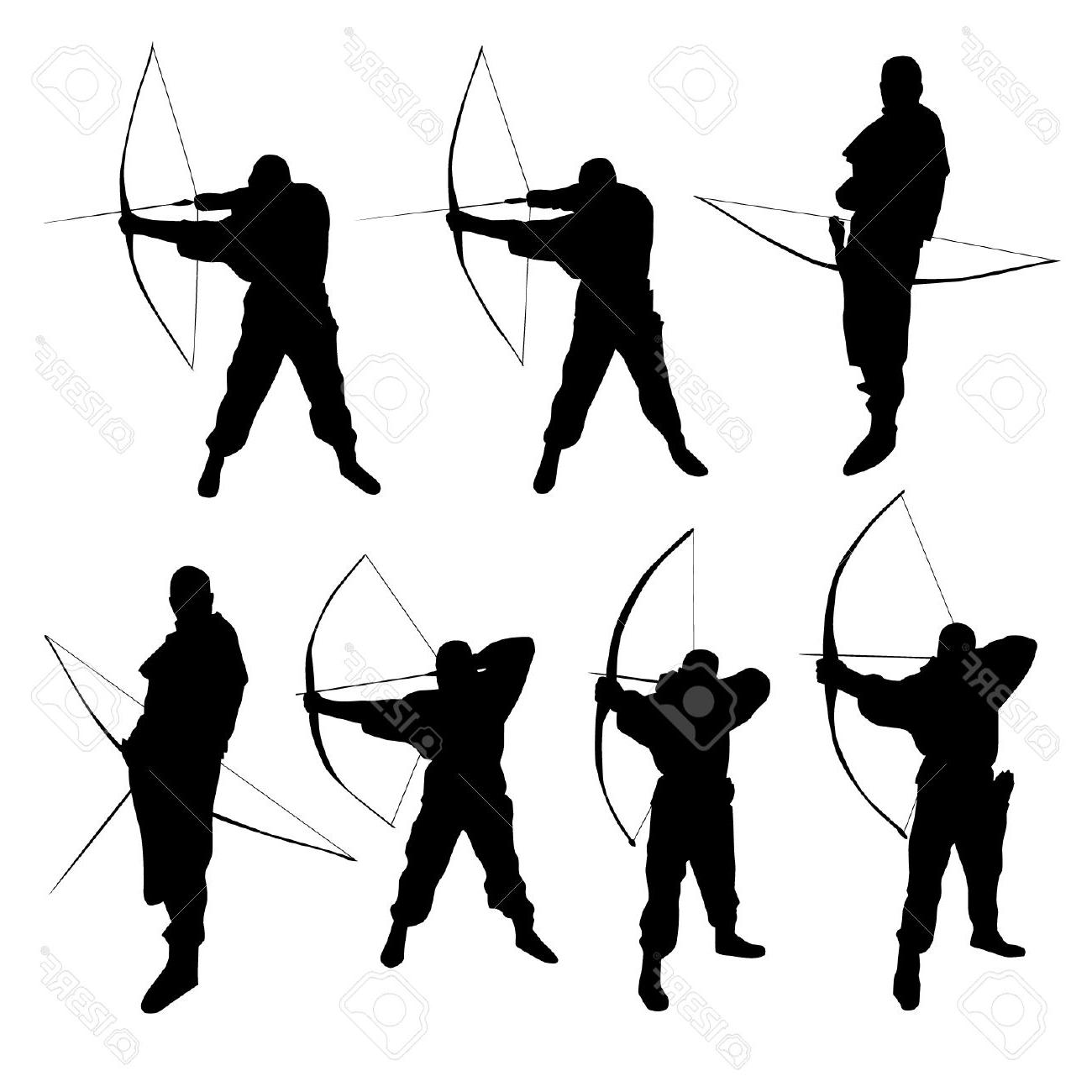 Top Silhouette Clipart Archery Couple Cdr.